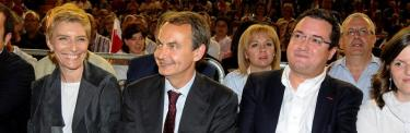Zapatero, en León, sin el éxito de antaño.   EFE