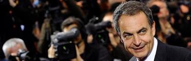 José Luis Rodríguez Zapatero, este miércoles, en la Cumbre de Bruselas.   EFE