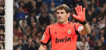 Casillas, durante el partido ante el Zaragoza. | Cordon Press