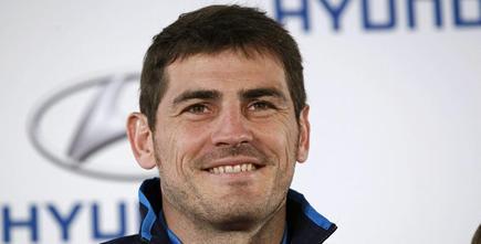 Iker Casillas, durante un acto publicitario.   EFE