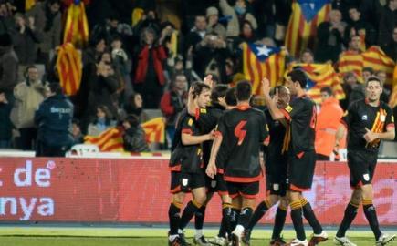Imagen de un encuentro de la selección catalana.   Archivo