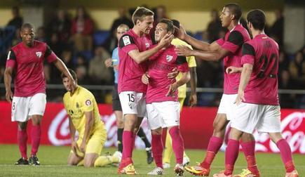 Cazorla no celebra su gol en El Madrigal. | EFE