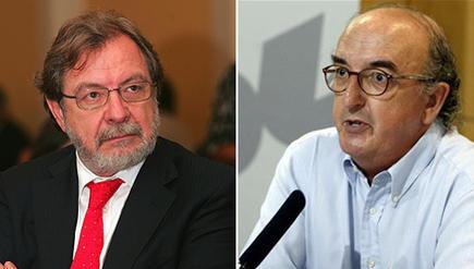 Juan Luis Cebrián y Jaume Roures.   LD