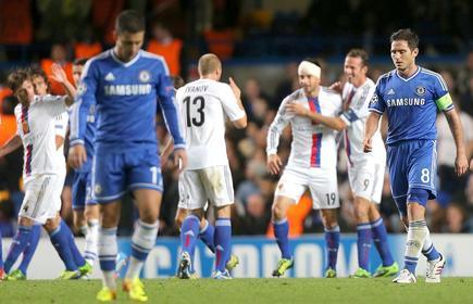 Los jugadores del Basilea celebran uno de los tantos conseguidos ante el Chelsea. | EFE