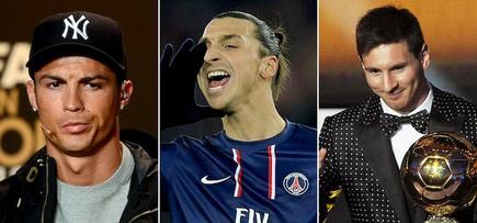 Cristiano Ronaldo, Ibrahimovic y Messi. | LD