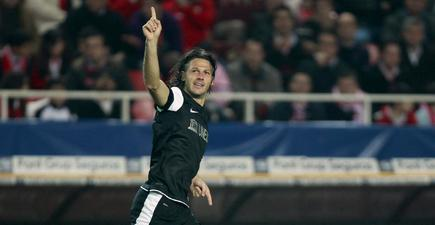 Demichelis celebra un gol con el Málaga. | Cordon Press