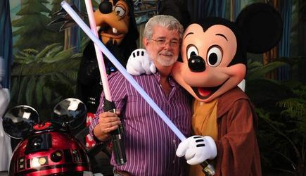 George Lucas, en una premonitoria fotografía de agosto de 2010. | Disney