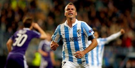 Duda celebra uno de sus dos goles al Anderlecht. | Cordon Press
