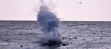 Una de las erupciones   Archivo.
