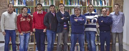 Anastasio Díaz, José Javier Martínez, Carlos Colodro, Isidro Villó, Rafael Toledo, Antonio Pérez, Javier Garrigós, J. Manuel Ferrández y Javier Toledo