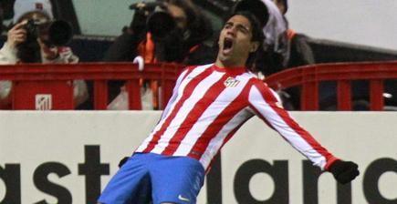 Falcao celebra su primer gol. | EFE