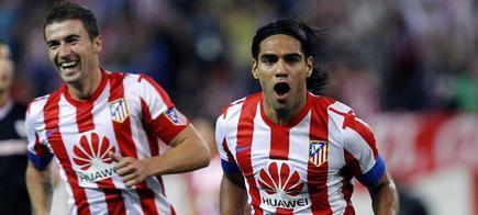 Falcao celebra uno de sus tres goles. | EFE