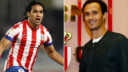 Radamel Falcao y Ricardo Carvalho.