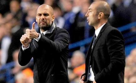 Guardiola, junto a Di Matteo. | EFE