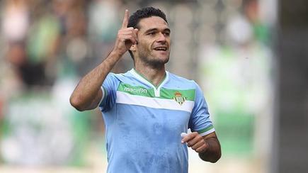 Jorge Molina celebra su tanto ante el Jablonec. | EFE