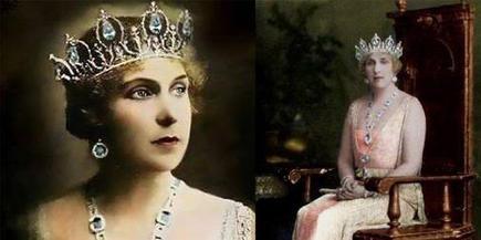 La reina Victoria Eugenia, luciendo las joyas | dinastiasreales.blogspot.com