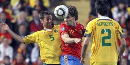 Llorente, en un encuentro contra Lituania.