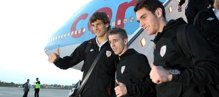 Llorente, Muniain e Ibai Gómez, en Bucarest. | EFE