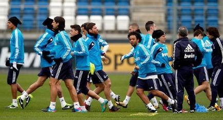 Entrenamiento del Real Madrid en Valdebebas.   Foto: realmadrid.com