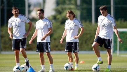Entrenamiento del Real Madrid en Valdebebas, ya con Gareth Bale. | Foto: realmadrid.com