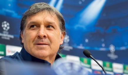 Tata Martino, en rueda de prensa en el Amsterdam Arena. | Cordon Press