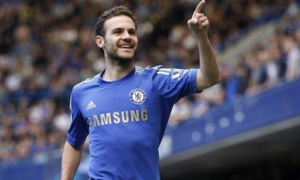 Mata celebra un gol con el Chelsea. | Archivo