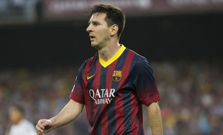 Messi, durante un partido con el Barcelona. | Archivo