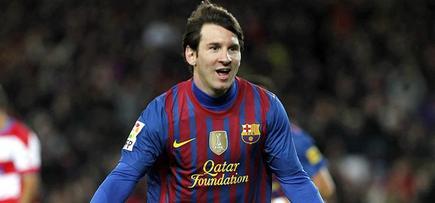 Messi celebra su primer gol ante el Granada. | EFE