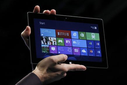 La tableta Surface en la presentación de Microsoft el 25 de octubre. |