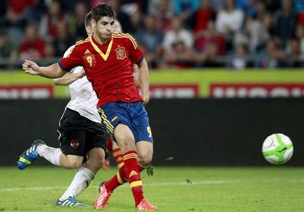Álvaro Morata, autor de cuatro goles a Austria. | EFE