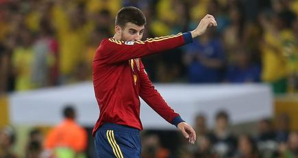 Gerard Piqué, durante la final de la Copa Confederaciones. | Cordon Press