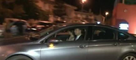 Fugaz imagen de los Príncipes a su entrada a la finca. | TV
