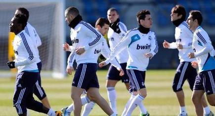 Entrenamiento del Real Madrid en Valdebebas.   realmadrid.com