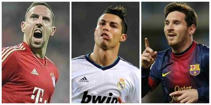 Ribéry, Cristiano Ronaldo y Leo Messi optan a mejor jugador de Europa. | Archivo