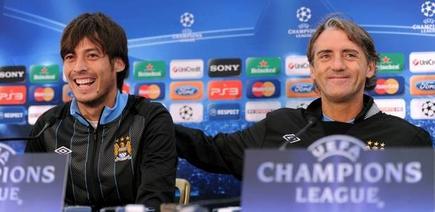 Silva Mancini, en rueda de prensa en la Champions. | Archivo
