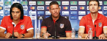 Diego Pablo Simeone, durante la rueda de prensa en Mónaco. | EFE