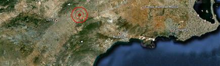 El epicentro del terremoto de Lorca | Archivo