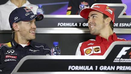 Sebastian Vettel y Fernando Alonso. | Cordon Press/Archivo