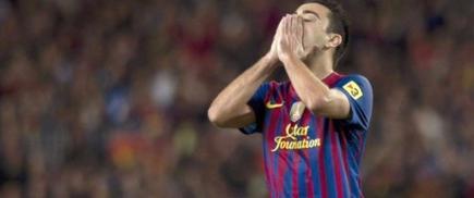 Xavi, durante el clásico del Camp Nou. | Archivo