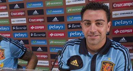 Xavi Hernández, en rueda de prensa. | Archivo