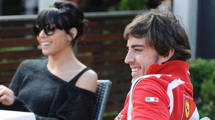 Raquel del Rosario y Fernando Alonso | Archivo