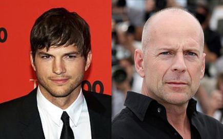 Ashton Kutcher y Bruce Willis | Archivo