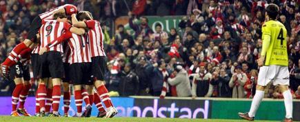 El Athletic celebra el tanto de Susaeta. | EFE