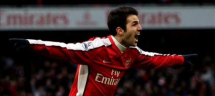 Cesc Fàbregas, durante un partido con el Arsenal.   Archivo