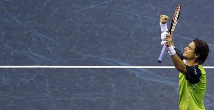 David Ferrer celebra su triunfo. | EFE
