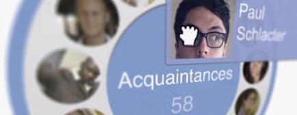 El interfaz para colocar los contactos en círculos es casi adictivo. | woms.tech