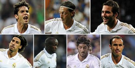Kaká, Özil, Higuaín, Khedira, Lass, Granero y Carvalho. | LD