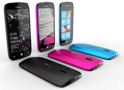 Así serán los teléfonos equipados con Windows Phone 7.   Nokia
