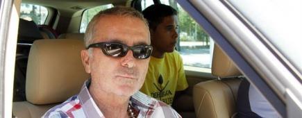 Ortega Cano a la salida del hospital.   Europa Press