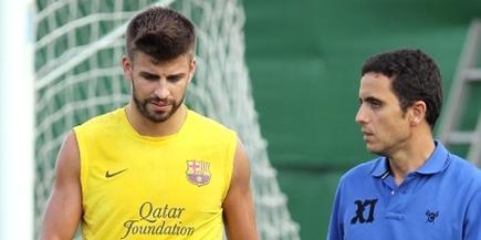 Gerard Piqué, durante un entrenamiento del Barcelona. | Archivo
